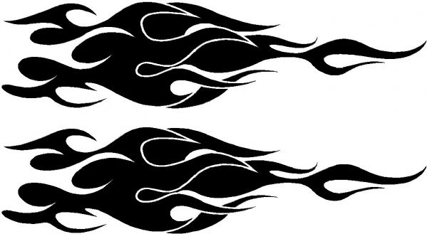 Vehicle Graphic Decal FLAME Design 2